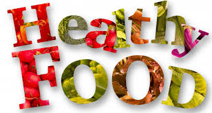 Healthy food in words