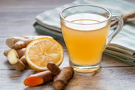Turmeric tea with ginger